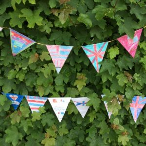 Hand decorated bunting