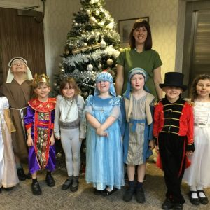 Year 2 children perform at Wyndham Care Home, Bicester