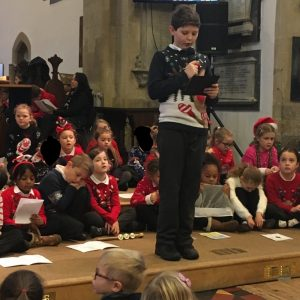"Reading ""Shepherds Hear About Jesus"" read by Alfie P"